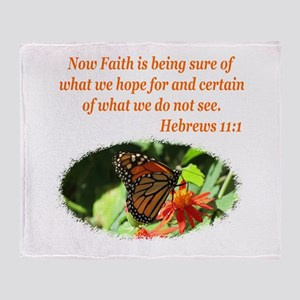 HEBREWS 11:1 Throw Blanket