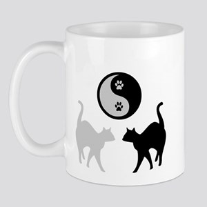 YIN YANG CATS PAWS Mug
