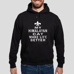 Himalayan Cat Make Life Better Hoodie (dark)