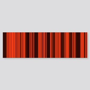 Abstract Red Black lines Bumper Sticker