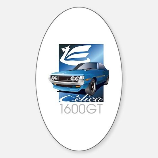 Funny Celica Sticker (Oval)
