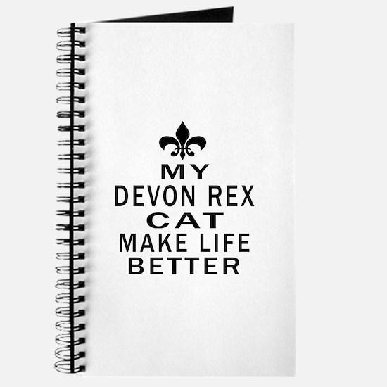 Devon Rex Cat Make Life Better Journal