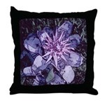 Aechmea bromeliad flower 1 - Throw Pillow