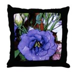 Purple Lisianthus Throw Pillow
