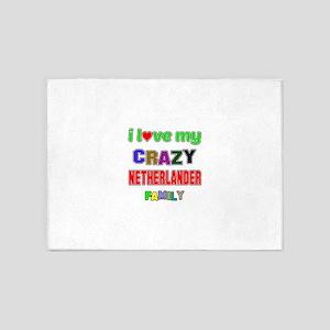 I love my crazy Nitherlander family 5'x7'Area Rug