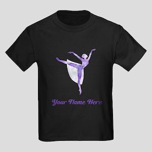 Personalized Ballet Kids Dark T-Shirt