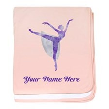 Personalized Ballet baby blanket