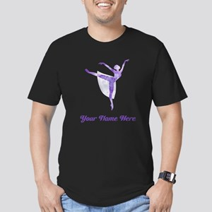 Personalized Ballet Men's Fitted T-Shirt (dark)