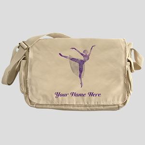 Personalized Ballet Messenger Bag