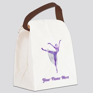 Personalized Ballet Canvas Lunch Bag