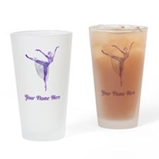 Personalized Ballet Drinking Glass