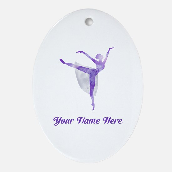 Personalized Ballet Oval Ornament