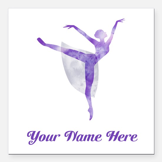 """Personalized Ballet Square Car Magnet 3"""" x 3"""""""