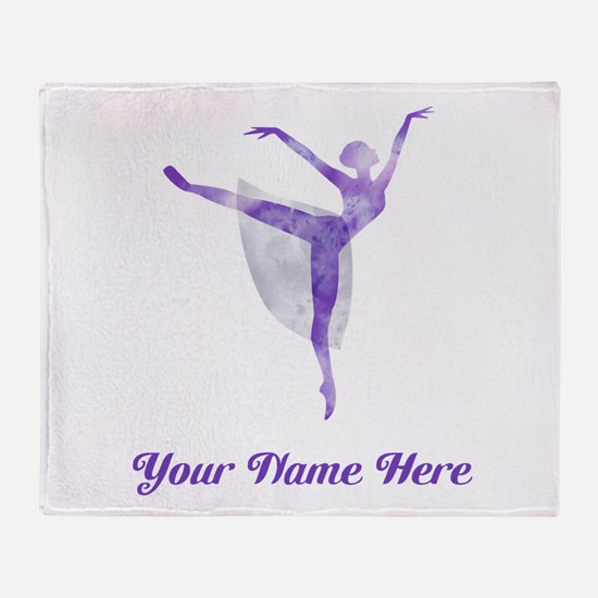 Personalized Ballet Throw Blanket