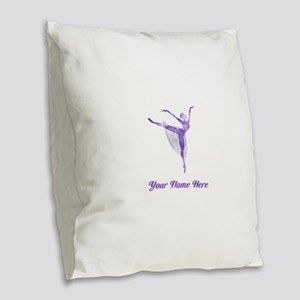 Personalized Ballet Burlap Throw Pillow