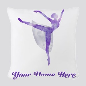 Personalized Ballet Woven Throw Pillow