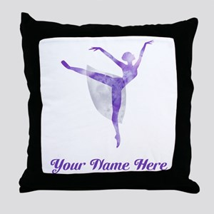 Personalized Ballet Throw Pillow