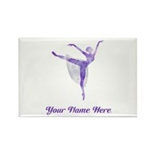 Personalized Ballet Rectangle Magnet
