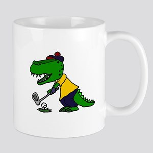 Alligator Playing Golf Mugs