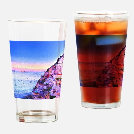 Cute Village Drinking Glass