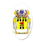 Rosefield Oval Car Magnet