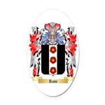 Rose English Oval Car Magnet