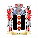 Rose English Square Car Magnet 3