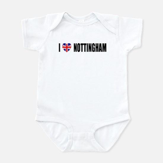I Love Nottingham Infant Bodysuit