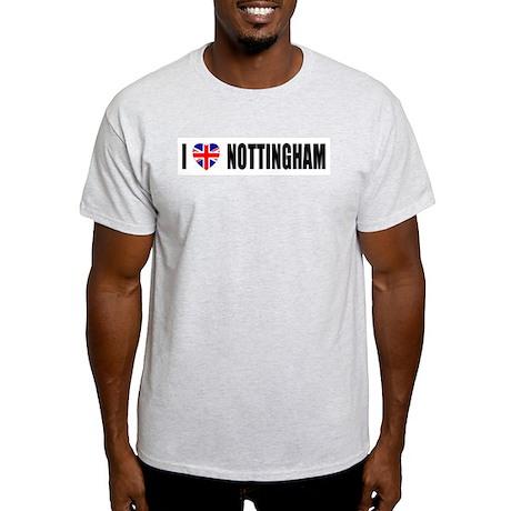 I Love Nottingham Light T-Shirt