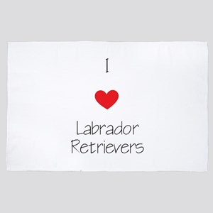 I Love Labrador Retrievers 4' X 6' Rug