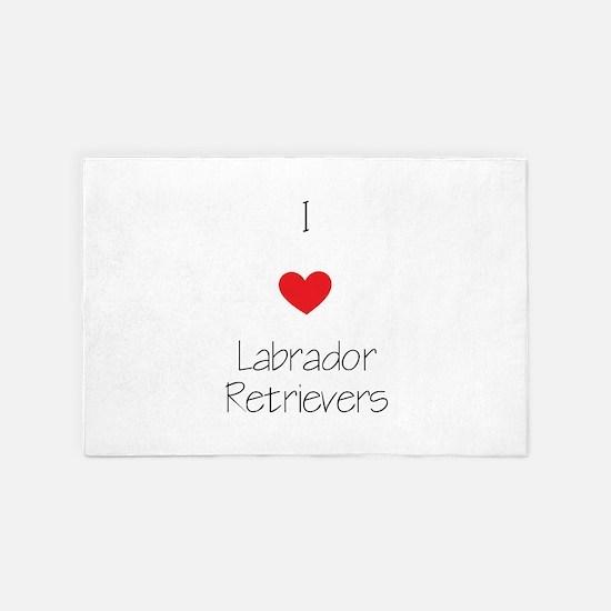 I Love Labrador Retrievers 4' X 6' Rug