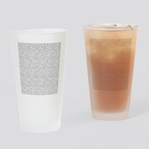 Silver Gray Glitter Sparkles Drinking Glass