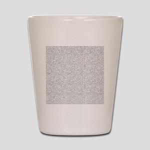 Silver Gray Glitter Sparkles Shot Glass