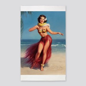 Pin Up Girl; Aloha from Hawaii Area Rug
