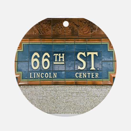 Lincoln Center Subway Station Round Ornament
