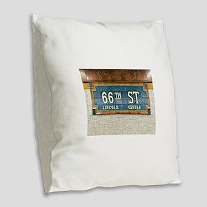Lincoln Center Subway Station Burlap Throw Pillow