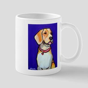 Beagle with Purple Mugs