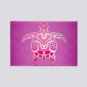Pink Tribal Turtle Magnets