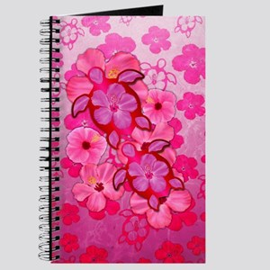 Pink Flowers And Honu Turtles Journal