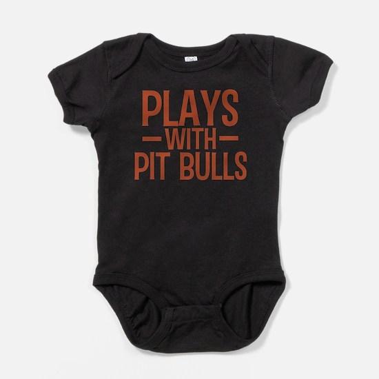 Cute American pit bull terrier lover Baby Bodysuit