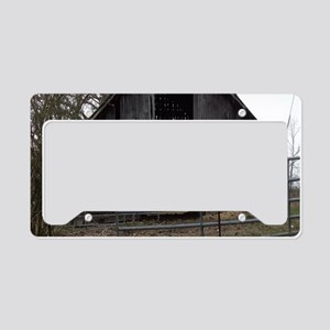 Old Weathered Farm Barn License Plate Holder