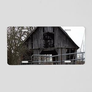 Old Weathered Farm Barn Aluminum License Plate