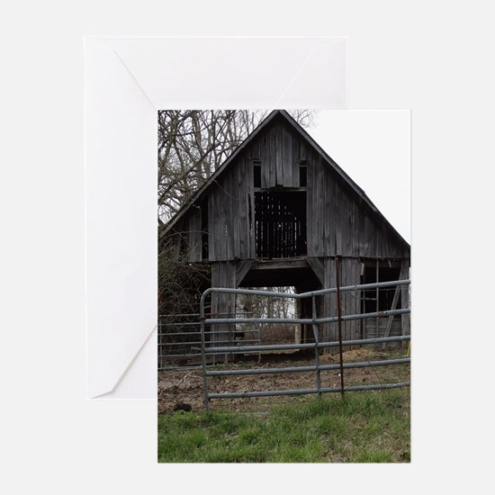 Old Weathered Farm Barn Greeting Cards