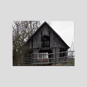 Old Weathered Farm Barn 5'x7'Area Rug