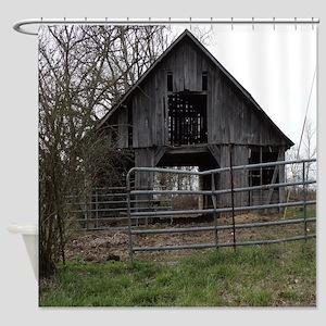 Old Weathered Farm Barn Shower Curtain