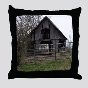 Old Weathered Farm Barn Throw Pillow