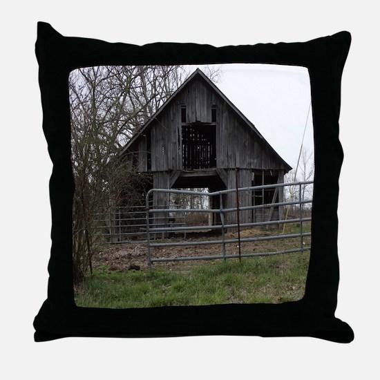 Old Weathered Farm Barn Throw Pillow