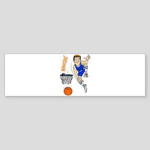 woosh! basketball Bumper Sticker