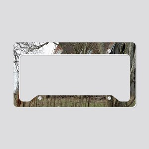 antique barn And Cows License Plate Holder