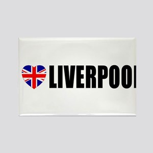 I Love Liverpool Rectangle Magnet